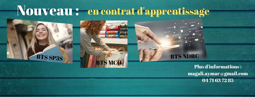 BTS MCO SP3S NDRC en contrat d'apprentissage