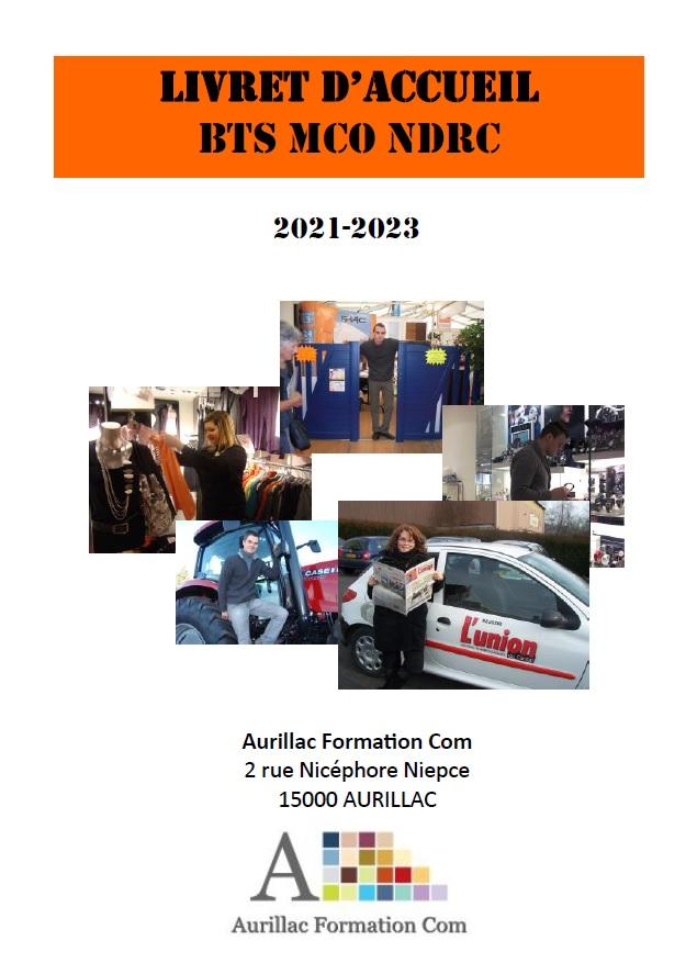 Livret d'accueil BTS MCO NDRC Apprentissage Aurillac
